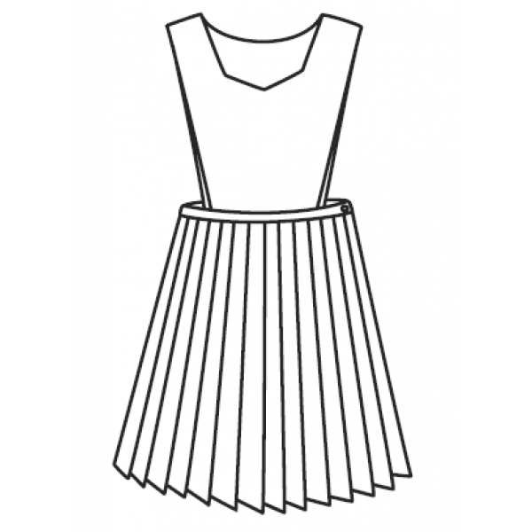 Line Art Uniform : Jumper pinafore knife pleat jumpers girls