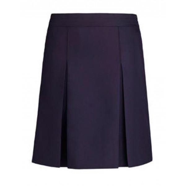 skirt kick pleat navy skirts